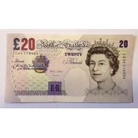 Великобритания 20 фунтов, образца 1999г. , ПРЕСС UNC