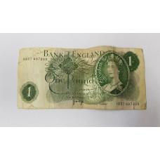 Великобритания, 1 фунт, 1970-1977гг.