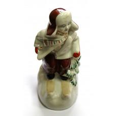 Мальчик на лыжак у ёлки, 1960-70-е гг., СССР
