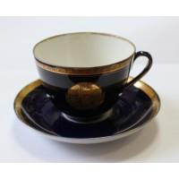 Чашка + блюдце 40 лет Октября ЛФЗ 1957г. всё целое!