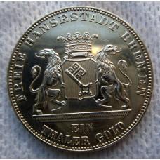 Германия, 1 талер, 1863г. Бремен, 50 лет Освобождения UNC