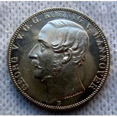 Германия, 1 талер, 1865г. Ганновер, 50 лет Ватерлоо, PRUF