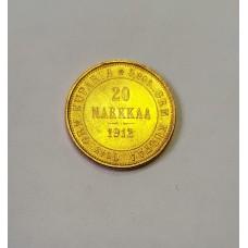 Русско-Финские, 20 марок, 1912г.