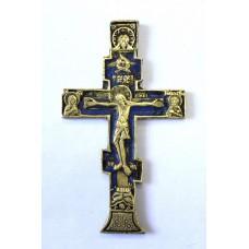 Крест с эмалью, XIX в.