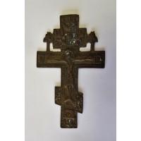 Крест с херувимами, 2цв. эмали. XIX века