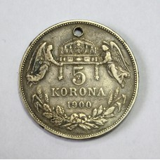 Австро-Венгрия, 5 корон, 1900г.