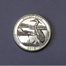 США, 25ц.,  BOMBAY HOOK ( нацпарк № 29, штат Делавер ), 2015г.