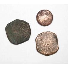 Старые монеты Азии. 3шт.