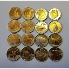 Турция 1 лира животные Монеты 16шт.