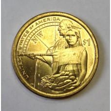 США, 1$, Серия Индейцы Компас Гостеприимство, 2014г.