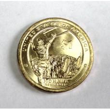 США, 1$, Серия Индейцы MOHAWK, 2015г.