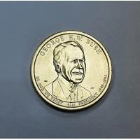 США, 1$, Президент №41 GEORGE H.W. BUSH, 2020г.