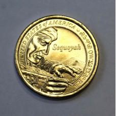 США, 1$, Серия Индейцы SEQUOYAH, 2017г.