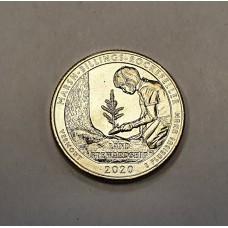 США, 25ц., MARSH-BILLINGS-ROCKEFELLER ( нацпарк № 54, штат Вермонт ), 2020г.