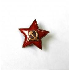 Звезда большая на будёновку, накладной СиМ, 1930-40-е гг.СССР