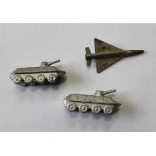Два броневика и самолётик, СССР.