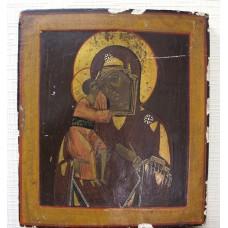 """Икона - """" Богородица Феодоровская с младенцем"""", XIXв."""
