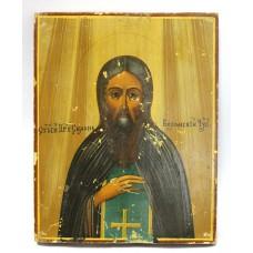 """Икона - """" Симон Воломский ( Усюжский ) Чудотворец """", XIXв."""