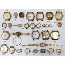 Часы мужские и женские Сделано в СССР Au позолота, есть Au20