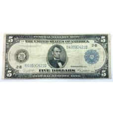 США, 5$, 1914г.