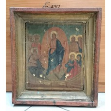 """Икона - """" Воскресение Христово """", XIX век."""