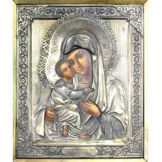 """Икона - """" Владимирская Богородица """" в киоте, XIX-XX век."""