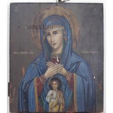 """Икона - """" Пресвятыя богородицы Помощь в родах """", XIXв."""