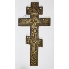 Крест средний, 2цв. эмали XIX века