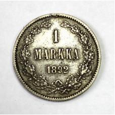 1 маркка, 1892г.,Россия для Финляндии.