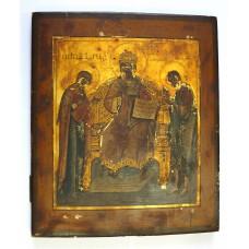 """Икона - """" Царь Царём """", сусальное золото, XIXв."""