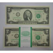 США, 2$, 2009г. пачка 100шт.