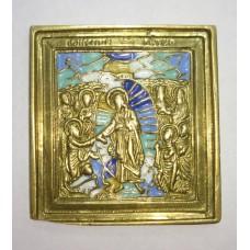 """Иконка - """" Воскресение Христово """", 5 цв.эмали, XIXв."""