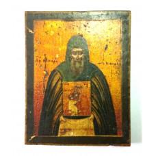 """Икона - """"Преподобный Никодим Кожеозерский Чудотворец"""", XIXв."""