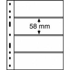 Листы для банкнот Optima 4C (прозрачные)