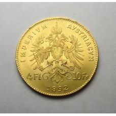Австрия, 4 флорина = 10 фр., 1892г.