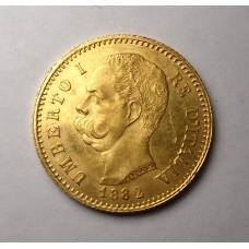 Италия, 20 лир, 1882г.
