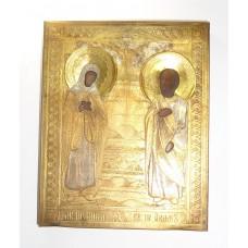 """Икона - """"Святые праведные Иоаким и Анна"""", XIXв."""