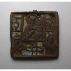 Иконка от складня Богородица маленькая, XIXв.