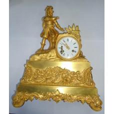 Часы каминные - Маршал с жезлом, позолота ( ЕВРОПА )