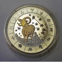 Руанда 1000 франков 2009 Овен Бриллианты 3 унции.