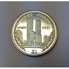 Британские Виргинские острова 11 сентября 2001г. Башни Близнецы трагедия 1 доллар $, 2002г.