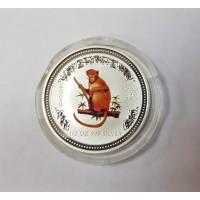 Австралия, 50 центов, 2004г. Год Обезьяны, серебро 999 пробы картинка