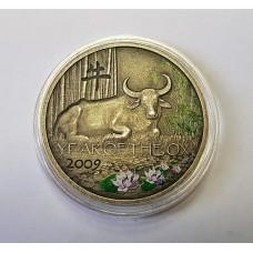 """Ниуе, 1$ 2008г.,  """" Год Быка """"."""