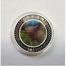 Австралия, 1$, 2007г. Год Свиньи, голограмма