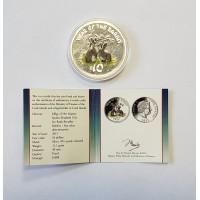 Острова Кука, 10$, 2011г. Год Кролика унция