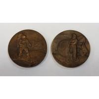 Медаль настольная - Гагарин и Армстронг, 2шт. ММД