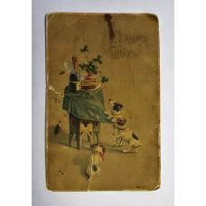 Почтовая карточка - Открытка С НОВЫМ ГОДОМ!, царизм до 1917г. СПБ Стрельна Бранд